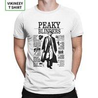 Homem Camiseta Citações Peaky Blinders Novidade Mangas Curtas T-shirt Crew Roupas de Pescoço 100% Algodão Estilo de Verão T-shirt 210420