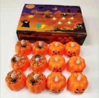Halloween Party Dekorationen LED Elektronische Kürbis Lichter Atmosphäre Dekoration Glühen Spielzeug Squash Kerze Licht GYQ