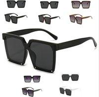 2021 مصمم مربعة النظارات الشمسية الرجال النساء خمر ظلال القيادة الاستقطاب الذكور نظارات الشمس الأزياء المعادن لوح نظارات مع صندوق
