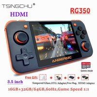 TSINGO Linux System RG350 Retro Game Console HDMI Output 3.5inch IPS Screen 16G+32G 64G 10000+ Games RG 350 Handheld Game Player G0925