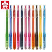 3шт Япония Сакура Вишневый Blossom Ballsign 0,4 / 0,5 мм карманный цвет нажимая гель перо наконечника высокая эластичность тела GBR154 ручки