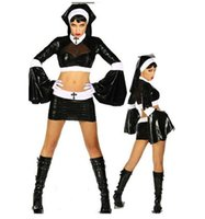 Frauen Neues Cosplay Kleid Nun Halloween Theme Kostüm Weibliche Taoistische Hexe Uniform Party Sänger ICLUDE Kopfschmuck Top Rock