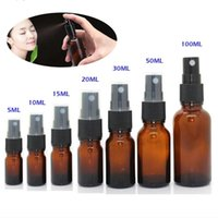 15ml 30ml 50ml Glass Spray Bottle Empty Amber Glasses Bottles Essential Oil Mist Container Case Refillable with Screw Cap