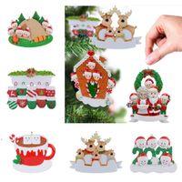 Christmas Ornaments DIY Name Blessings Xmas Tree Hanging Decorations Family of 2 3 4 5 6 7 8 Christmas Pendant DWB10679