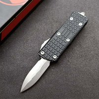 In Stock! MT UT Automatic Tactical Knife D2 Stone Wash Blade CNC 6061-T6 Handle EDC Knives With Nylon Bag