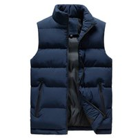 Men's Vests Men Spring And Fall Jacket Winter Vest For Down Cotton Sleeveless Waistcoat Man Big Size Warm Mens Coat