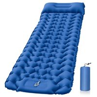 Outdoor Pads Portable Inflatable Cushion Built-in Foot Air Pump Mattress Folding Bed Camping Tourcamp