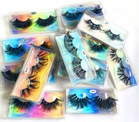 Makeup tools wispy lashes 25 mm 8D false eyelashes multi layer long thick lash bushy curling up emulation natural box packaging can do private logo free 50 pairs a lot