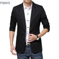 Men's Suits & Blazers FGKKS Brand Men Solid Color Party Suit Business Costume Homme Wedding Custom Coat