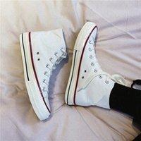 Moda Rahat Pirinç Beyaz Ayakkabı Tüm Boyutu 35-44 Spor Yıldız Düşük Yüksek Üst Klasik Tuval Siyah Ayakkabı Erkek Kadın Sneakers Erkek Bayan Sneaker