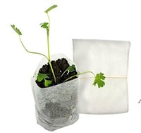Patio Lawn 100pcs / Pack Forniture da giardino Protezione ambientale Protezione ambientale Nursery Pots Semenzale Aumentando sacchetti DWB6278