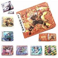 New Arrivals top qualityAnime Demon Slayer Wallet Young Men and Women Short Wallets Fashion Kochou Shinobu Rengoku Kyoujurou Student PU Purs