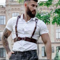 Bras Sets Bdsm Sexy Slave Bondage Body Harness Adult Porn Games Erotic Leather Dress Gay Fetish Men Underwear Pole Dance Clothing Top Wear