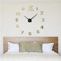 Wanduhren Modern DIY Echtes Wohnzimmer 3D Spiegel Sticke Große Uhr Dekoration Acryl Uhr Aufkleber