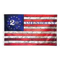 2 ° Emendamento USA Bandiera Americana Poliestere 150x90cm 3x5 ft Ship Sea OWE8395