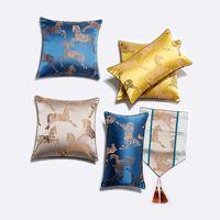 Dekorativ kasta kudde täcker lyxig kinesisk stil faux silke mjuk kudde fodral dekor för soffa soffa sovrum bil kudde / dekorativ