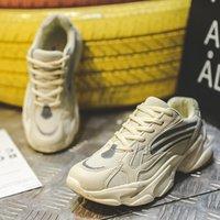 2021 Mode Tennis Schuhe Frauen Atmungsaktiv Schnürung Dicke Sohle Sneakers Herbst Weibliche Outdoor Mesh Jogging Schuhe