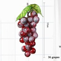 1 ADET Yapay Meyve Üzüm Plastik Sahte Dekoratif Meyve Gerçekçi Ev Düğün Parti Bahçe Dekor Mini Simülasyon Meyve DHD6047
