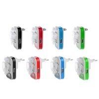 Smart Power Pluggar USB Universal Batteriladdare LCD-indikatorskärm EU / US-kontakt för mobiltelefoner