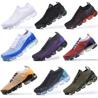 des chaussures 2018s 2019s Fly Mens Running Shoes Triple Black White Moc 2 Laceless des chaussures Breathable Women Trainers Zapatos Outdoor Sports Sneakers