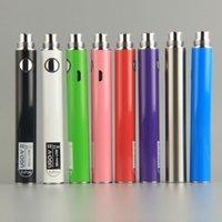 650mah ego t evod passthrough e cig battery with micro usb cables chargers vaporizer ugo v ii e cigarette 510 thread vapes pens