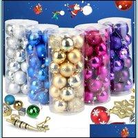 Christmas Festive Home & Gardenchristmas Ball Ornament Shatterproof Balls 24 43Pcs-Set Xmas Muticolor Trees Wedding Parties Mini Tree Decora