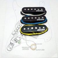 WVS Alnico5 Pickups Style Style Guitar Pickup Eleciric Nero 1 Set + Diagramma del circuito di saldatura