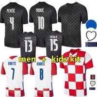 성인 Modric Soccer Jersey 2021 2022 National Team Mandzukic Home Away Orsic Perisic Rakitic Srna Kovacic Brozovic Rebic Men 축구 셔츠와 키트 키트