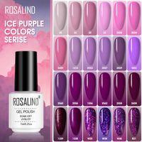 Nail Polish ROSALIND Ice Purple Serise Art All For Manicure Need UV LED Base Top Coat Primer Gel Varnish Hybrid
