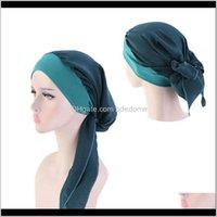 Headbands Jewelry Drop Delivery 2021 Women Mens Satin Camo Turban Bandanas Men Silky Durags Waves Cap Headband Head Er Hair Aessories Du Rag