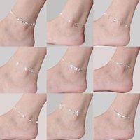 25designs Ankle Bracelet Minimalist Beach Adjustable Chain Beads Heart Bracelets 925 Sterling Sliver Anklet Foot Jewelry Anklets For jllQNY