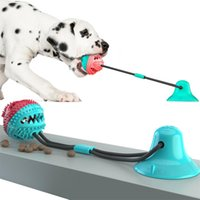 Dog Rope Ball Pull Toy with Suction Cup Chew Tug Toys Sucker Ball Can Leakage food Dog Toothbrush Teether
