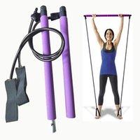 Yoga Stripes Spor Salonu Vücut Egzersiz Egzersiz Pilates Bar Stick Taşınabilir Direnç Bant Spor Malzemeleri ile