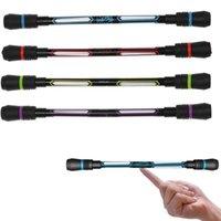 Bolígrafo bolígrafo resplandeciente gorro giratorio giro spinning gaming pluma para niños luz colorido brillante led creativo flash regalo juguete escolar suministro