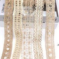 Sashes 2 M / Rulo 3-5 cm Doğal Jüt Çuval Pırıltı Kurdele Rulo Hessen Vintage Rustik Düğün Dekorasyon DIY Zanaat Ev Dekorasyonu Süsleme FWD9337