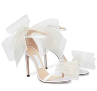 Zapatos de vestido de sandalia de avelera de verano para mujer arco de stiletto tacones de tacón de stiletto de la boda de la moda de la marca de la marca de la marca de la fiesta de la fiesta de la fiesta negra, blanco, rojo