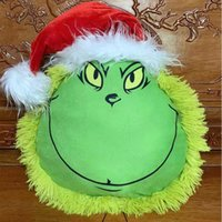 Grinch Peluş Oyuncak Noel Ağacı Toppers Kolye Yeşil Saç Canavar Bebek Xmas Süslemeleri