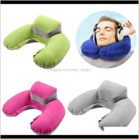 Bedding Supplies Textiles Home Garden Drop Delivery 2021 Inflatable Ushape Neck Pillow Air Cushion Soft Head Rest Compact Plane Flight Travel