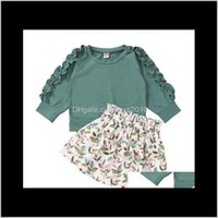Sets Clothing Baby, & Maternity Drop Delivery 2021 Baby Tops+Floral Skirts Outfits Fall Kids Clothes For Boutique 0-2T Infant Toddler Girls F