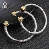 Armband-Armband Edelstahl Damenschmuck Mahagoni-Titan-Stahl mit Diamant