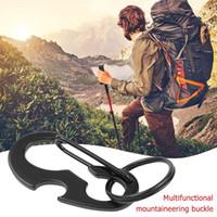 Cords, Slings And Webbing Outdoor Gadgets Multifunctional Climbing Buckle Metal Carabiner Bottle Portable Opener Spring Hook Hanging Keychai