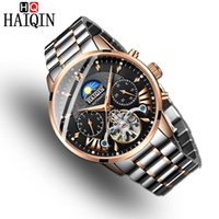 Montres Mode Hommes Hommes Haiqin Machinery Machinery Steel Hommes Watch Gold Watch Relogio Masculino Montre-Bracelet