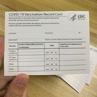 Tarjeta de vacunación de papel CDC en blanco con bolsas de soporte de manga de PVC transparente protector impermeable de 4 * 3 pulgadas