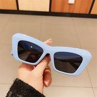 MS 2021 النظارات الشمسية النساء القط العين النظارات التدرج البني الوردي البحر اللون نظارات الشمس للإناث هدية العلامة التجارية مصمم uv400