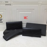 فرنسا 2021 مصمم السيدات طويلة شيكات المحفظة بطاقة الائتمان حامل صور محفظة جلد أسود عملة محفظة مورد سعر المبيعات خصم