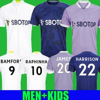 21 22 Leeds Terceiro Jerseys Fans Versão 2021 2022 Firpo James Harrison Hernandez Costa Bamford Phillips Raphinha Homens Kits Kits Camisa de Futebol