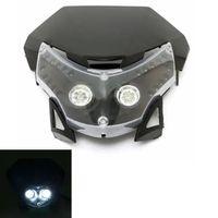 12V 10W White LED Light Headlight Fairing ABS Plastic For Most Dirt Bike Motorcycle