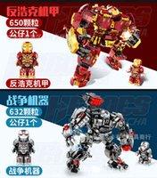 Anti Hawk Robot Steel Mecha Revenge Boy Puzzle Modell Building Block Toy Kompatibel med Lego