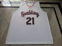 Jersey de basquete raro homens juventude mulheres vintage # 21 Rudy gay arcebispo spalding High School College tamanho s-5xl personalizado todo nome ou número