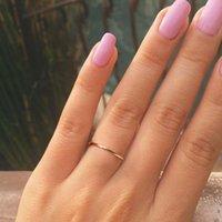 Canner Mode Minimalistische Perlen 925 Sterling Silber Ring Für Frauen Einfache Gold Farbe Dünne Ring Ehering Band Ringe Fingerschmuck 1437 Q2